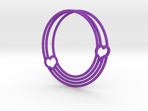 Coeur de Mobius in Purple Processed Versatile Plastic: Small