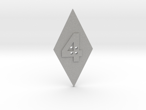4-hole 4 Sided Number 4 Button in Aluminum