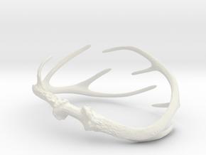 Antler Bracelet - Child size (65mm) in White Natural Versatile Plastic