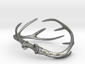 Antler Bracelet - Child size small (55mm) in Polished Silver