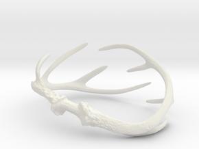 Antler Bracelet - Child size small (55mm) in White Natural Versatile Plastic