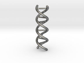 DNA Pendant in Fine Detail Polished Silver