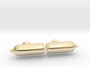 Spray Paint Can Cufflinks in 14k Gold Plated Brass