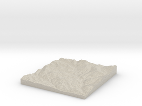 Model of Roadside Mine in Natural Sandstone