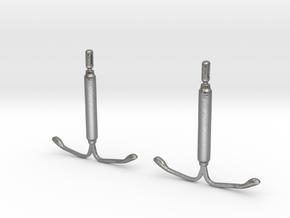 IUD Earrings in Natural Silver