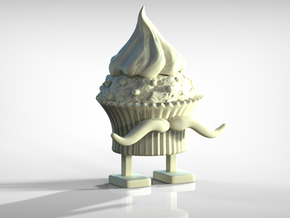 Cupcake Man! in White Natural Versatile Plastic