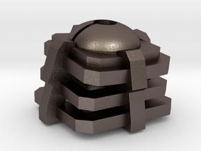 Pokeball mechanical key cap in Polished Bronzed Silver Steel