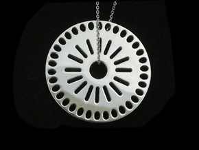 """Centered"" Pendant in Polished Silver"