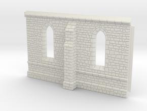 HORelM0102 - Gothic modular church in White Natural Versatile Plastic