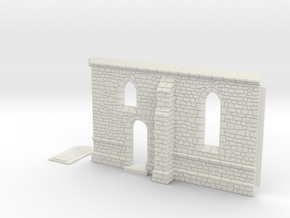 HORelM0103 - Gothic modular church in White Natural Versatile Plastic
