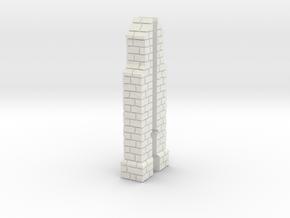 HORelM0121 - Gothic modular church in White Natural Versatile Plastic