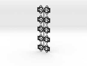 "Atlas O Scale Self-Aligning Coupler Mount - 0.100"" in Black Strong & Flexible"