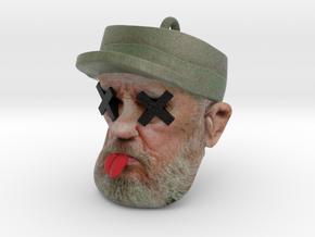 Dead Fidel Castro Ornament in Full Color Sandstone
