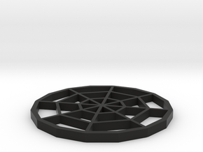 Spiderweb Coaster in Black Strong & Flexible