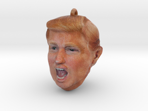 Photorealistic Donald Trump Head Ornament in Full Color Sandstone