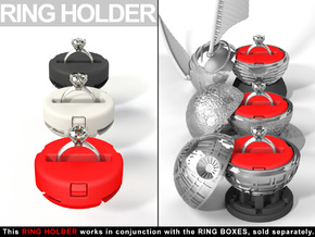"INSERT RING HOLDER - To ""ALL NEW RING BOXES"" in Red Strong & Flexible Polished"