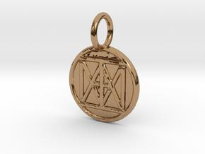 "United ""I AM"" Creator Keychain in Polished Brass"
