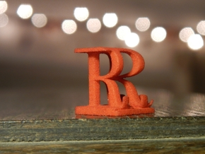 Two way letter / initial R&R in White Natural Versatile Plastic