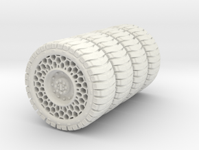 46mm airless tires in White Natural Versatile Plastic