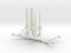 Strut & Control Arms 1/8 in White Natural Versatile Plastic