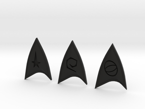Star Trek Online Combadge Set in Black Natural Versatile Plastic