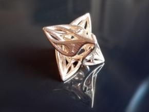 Curlicue 8-Sided Gaming Dice in Raw Brass