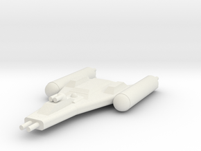 Clone Wars Y-Wing in White Natural Versatile Plastic