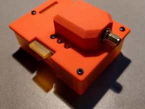 orangeRx UHF 1W JR Module Case Lid in Orange Processed Versatile Plastic