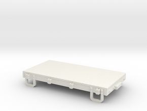 Sn3 13ft flatcar  in White Natural Versatile Plastic