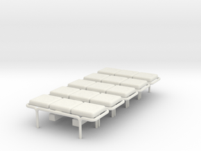 MOF Bench - 3 Cushion(5) - 72:1 Scale in White Strong & Flexible