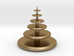 Christmas Tree in Polished Gold Steel