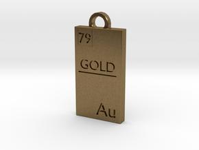 Gold Bar Pendant in Natural Bronze