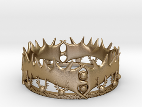 Game of Thrones Crown in Polished Gold Steel