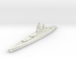 Richelieu battleship 1/1800 in White Strong & Flexible