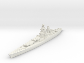 Richelieu battleship (1943 post-refit) 1/2400 in White Natural Versatile Plastic