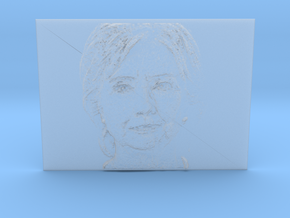 Embosssed Image Of Hillary Clinton's Face in Smooth Fine Detail Plastic