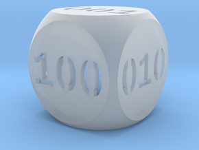Programmer's dice in Smooth Fine Detail Plastic