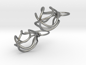 Soft Whirl Pair in Natural Silver (Interlocking Parts)