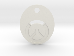 Overwatch Symbol Keychain in White Natural Versatile Plastic