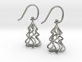 Christmas Tree Twirl in Natural Silver (Interlocking Parts)