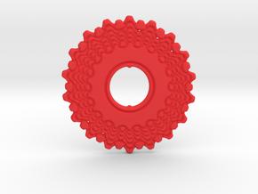Bicycle Gear Pendant in Red Processed Versatile Plastic