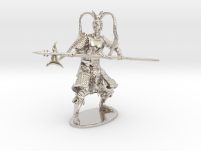 Lü Bu Miniature in Rhodium Plated Brass: 1:60.96