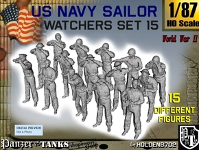 1-87 US Navy Watchers Set15 in Smooth Fine Detail Plastic