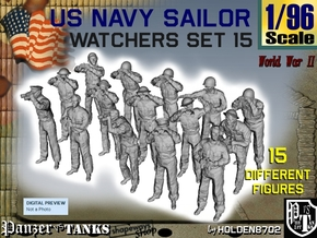 1-96 US Navy Watchers Set15 in Smooth Fine Detail Plastic