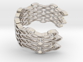 Brace Bracelet in Rhodium Plated Brass