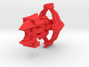 Colour Slipstreamer Destroyer in Red Processed Versatile Plastic
