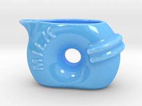 Milk Jug in Gloss Blue Porcelain