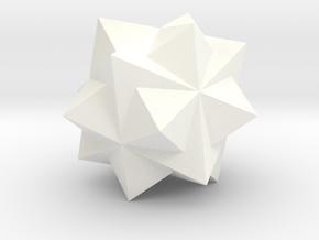 THREE OCTAHEDRA COMP in White Processed Versatile Plastic
