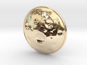 Moon Earring in 14K Yellow Gold