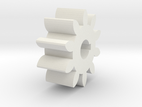 Gear in White Strong & Flexible